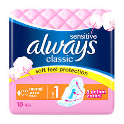 ALWAYS PODPASKI CLASSIC SENSITIVE 10SZT