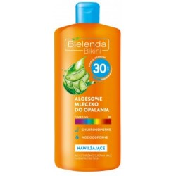 BIELENDA BIKINI MLECZKO DO OPALANIA 200 ML SPF 30 ALOES