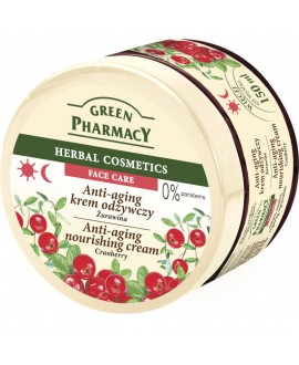 GREEN PHARMACY KREM ODŻYWCZY ANTI-AGING ŻURAWINA 150 ML