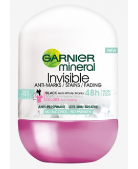 GARNIER DEO WOMEN ROLL ON 50ML INVISIBLE BWC FLOWER