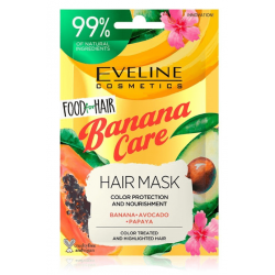 EVELINE FOOD FOR HAIR MASKA DO WŁOSÓW BANANA 20ml