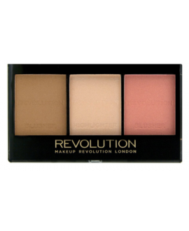 MAKEUP REVOLUTION ULTRA SCULPT&CONTOUR KIT ZESTAW PUDRÓW DO KONTUROWANIA C01 FAIR 11G