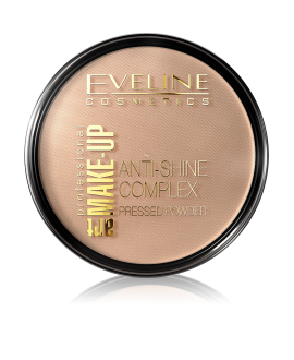 EVELINE PROFESSIONAL ART MAKE-UP MATUJĄCY PUDER MINERALNY Z JEDWABIEM 35-GOLDEN BEIGE