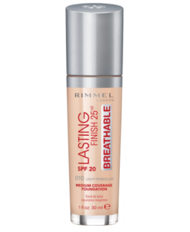 RIMMEL PODKŁAD LASTING FINISH BREATHABLE 010 LIGHT PORCELAIN
