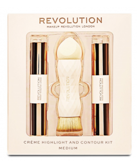 MAKEUP REVOLUTION CREME HIGHLIGHT AND CONTOUR KIT ZESTAW DO KONTUROWANIA MEDIUM