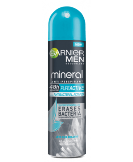 GARNIER MEN ANTYPERSPIRANT SPRAY PURE ACTIVE 150ml