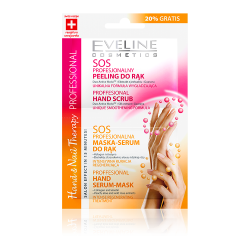 EVELINE SOS PEELING DO RĄK + MASKA SASZETKA 2X6ML